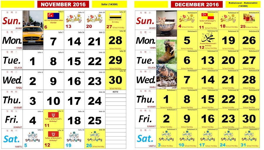 bulan november dan disember
