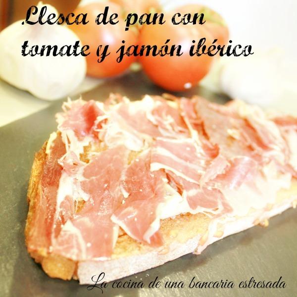 Receta de pan con tomate y jamón serrano paso a paso