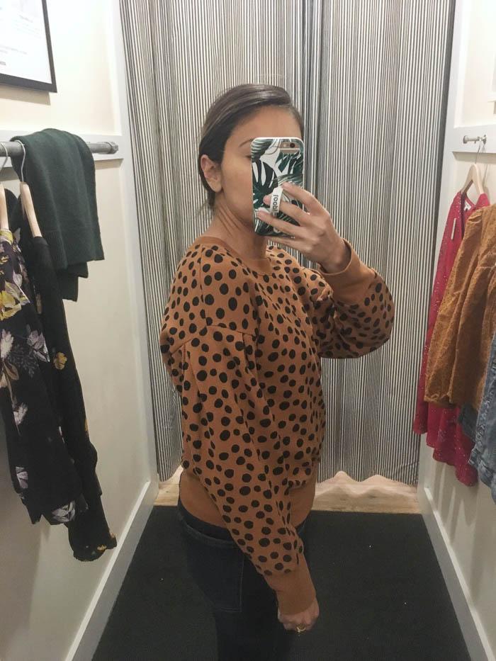 womens leopard print sweatshirt