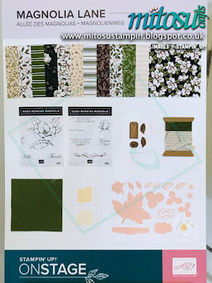 Magnolia Lane Suite NEW Stampin' Up! Products #onstage2019 Display Board from Mitosu Crafts UK