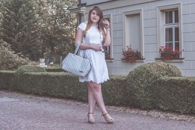 Hafty sukienka stylizacja