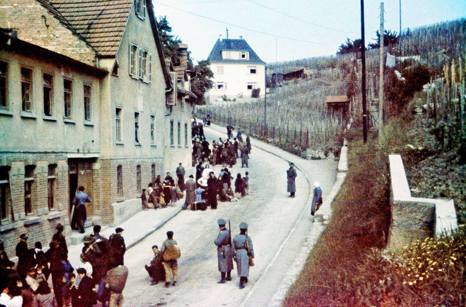 Sinti are rounded up by police in Asperg, Germany. May 22, 1940.