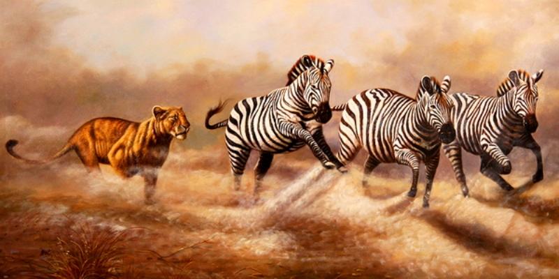Paisajes De Animales: Imágenes Arte Pinturas: CUADROS DE ANIMALES CON PAISAJE
