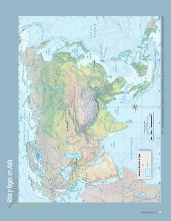 Apoyo Primaria Atlas de Geografía del Mundo 5to. Grado Capítulo 2 Lección 2 Ríos y Lagos en Asia