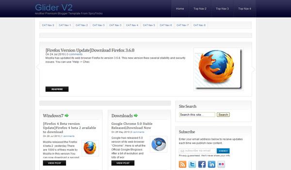 FREE Glider V2 Blogger Template