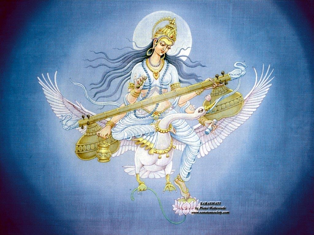 Maa Saraswati HD Wallpapers | Hindu God HD Wallpapers