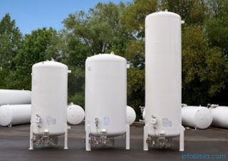 tangki gas bentuk silinder tegak