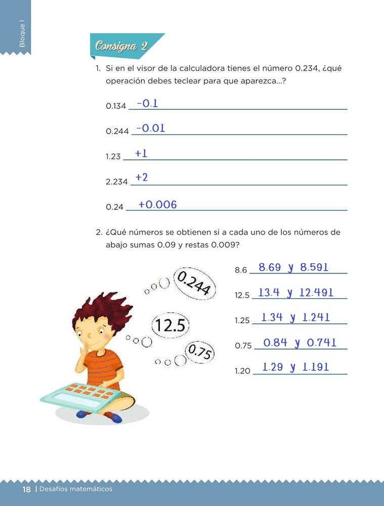 Libro de textoDesafíos MatemáticosRompecabezasSexto gradoContestado