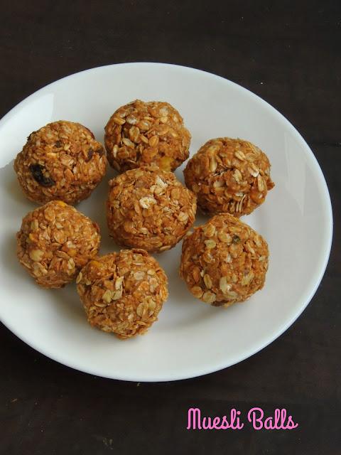 No Cook Muesli Balls, Almond Butter Muesli Balls