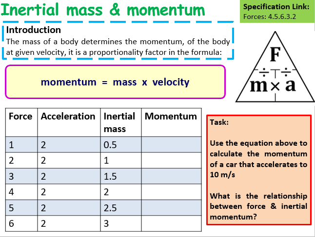 Imaginative teaching ideas how to teach students inertial - Momentum task force madrid ...