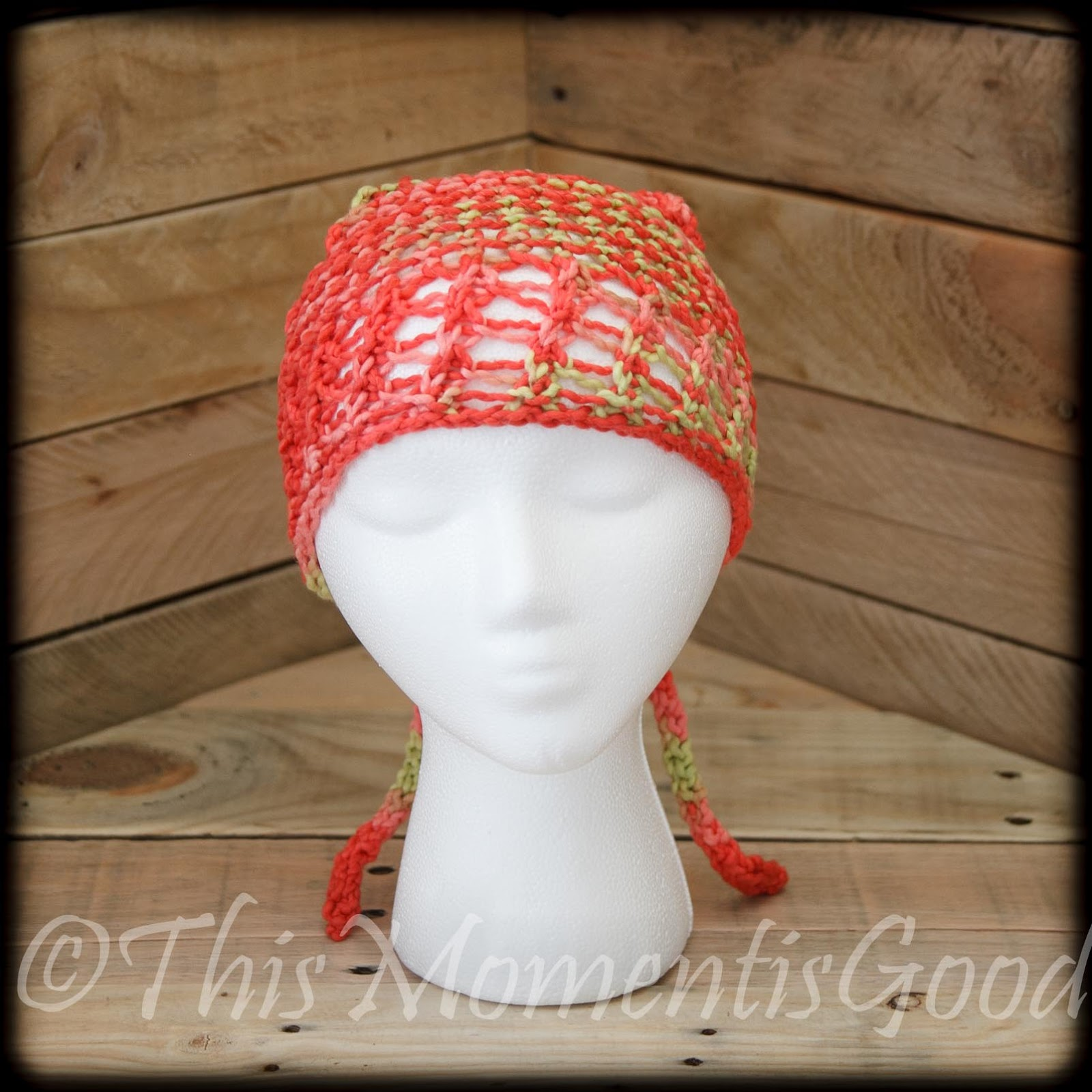 Knitting Patterns For Head Wraps : Loom Knitting by This Moment is Good!: LOOM KNIT HEAD WRAP/BANDANNA