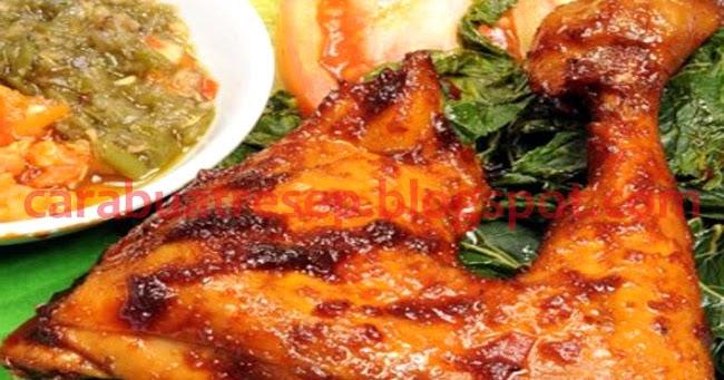 cara membuat ayam bakar padang resep masakan indonesia