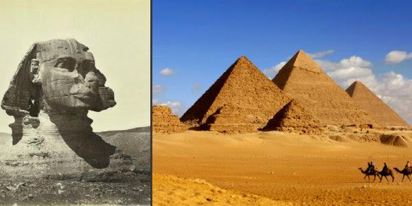 A szfinx és a piramisok kerültek az IÁ célkeresztjébe