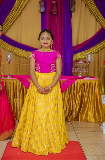 Big Girl in Yellow Benaras Lehenga