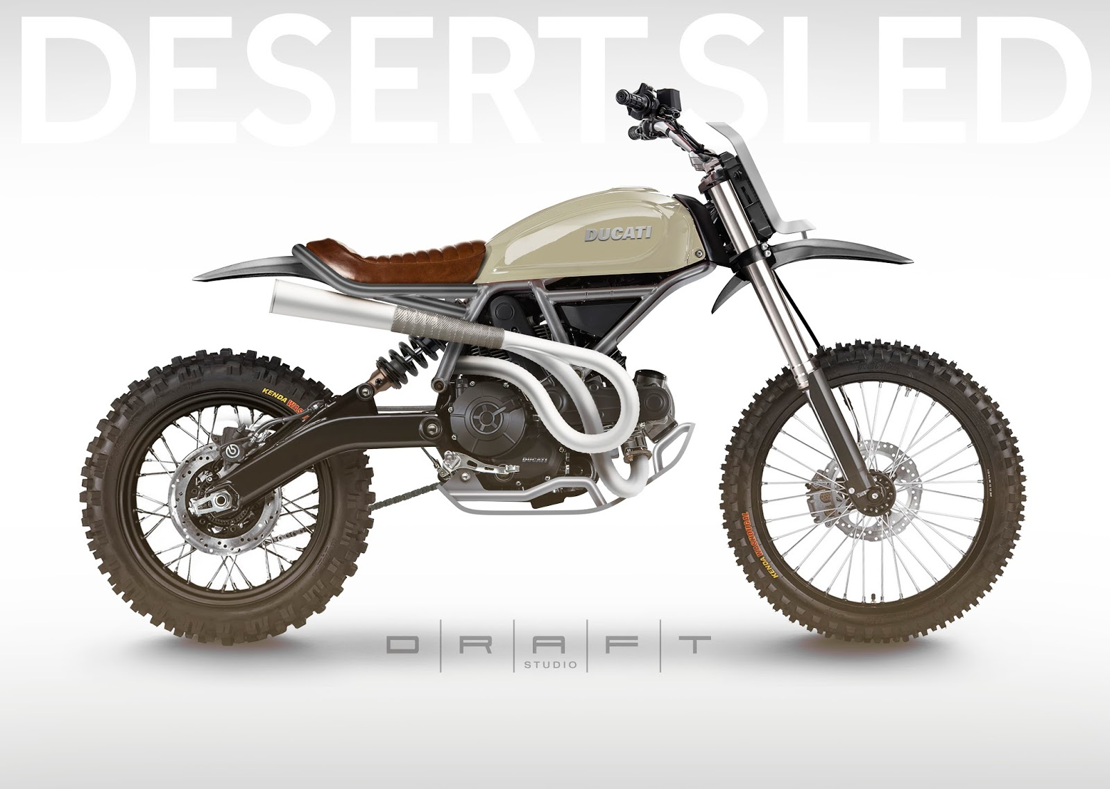moto mucci art design ducati sixty2 desert sled concept. Black Bedroom Furniture Sets. Home Design Ideas