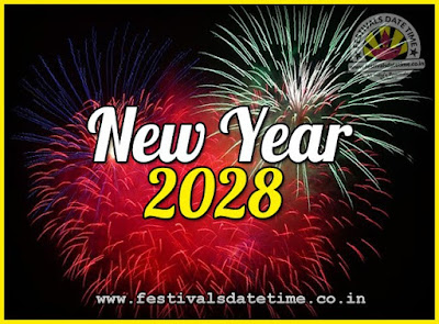 2028 New Year Date & Time, 2028 New Year Calendar