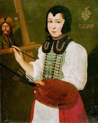 Autoportrait (1691), Anna Waser
