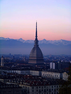 Turin's colossal Mole Antonelliana is a familiar landmark on the city's skyline