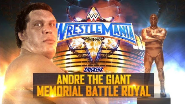 Andre the Giant Memorial Battle Royal Trophy Wrestlemania 2018
