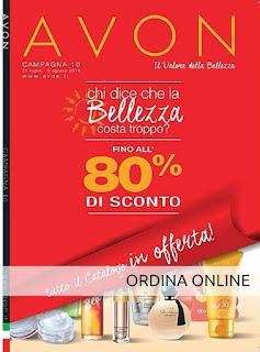 Catalogo Avon Online Campagna 10. Guarda il Catalogo Avon Online della Campagna in corso e scopri come acquistare i prodotti Avon. Presentatrice Avon Italia. Opinioni, Recensioni, Tutorial e Review sui prodotti Avon.it