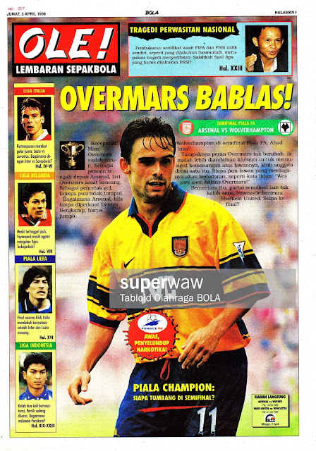 FA CUP ARSENAL VS WOLVERHAMPTON MARC OVERMARS 1998