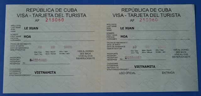 BÍ KIẾP XIN VISA DU LỊCH CUBA 2017