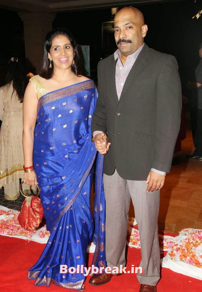 Sonali Kulkarni, Siddharth Kannan & Neha Agarwal Wedding Reception Pics