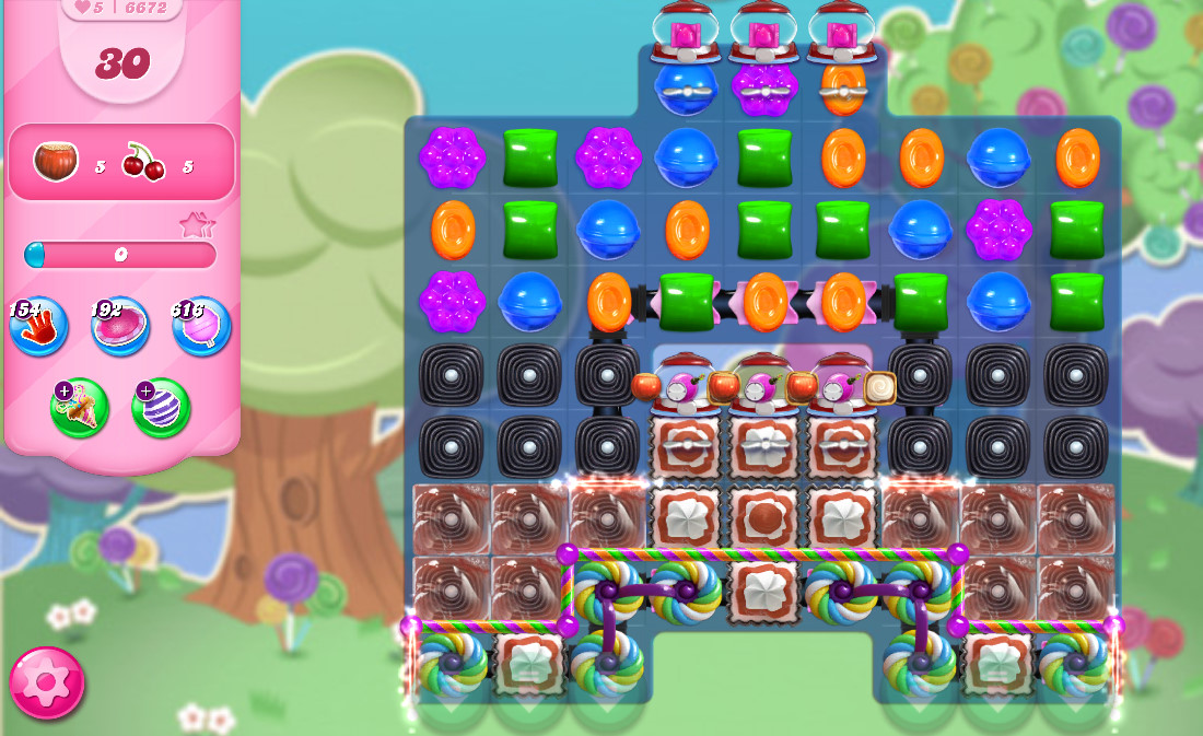 Candy Crush Saga level 6672