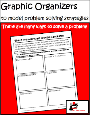 Free problem solving strategies graphic organizer from Raki's Rad Resources.