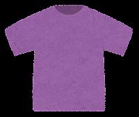 Tシャツのイラスト(紫)