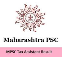 MPSC Tax Assistant Result