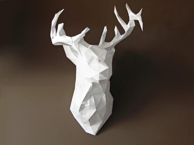 jeleń z papieru