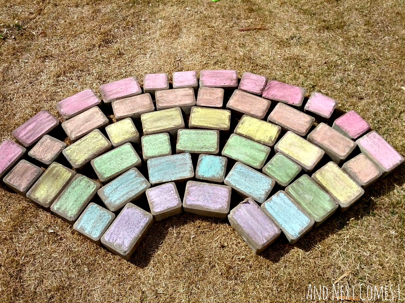 Giant chalk rainbow from And Next Comes L