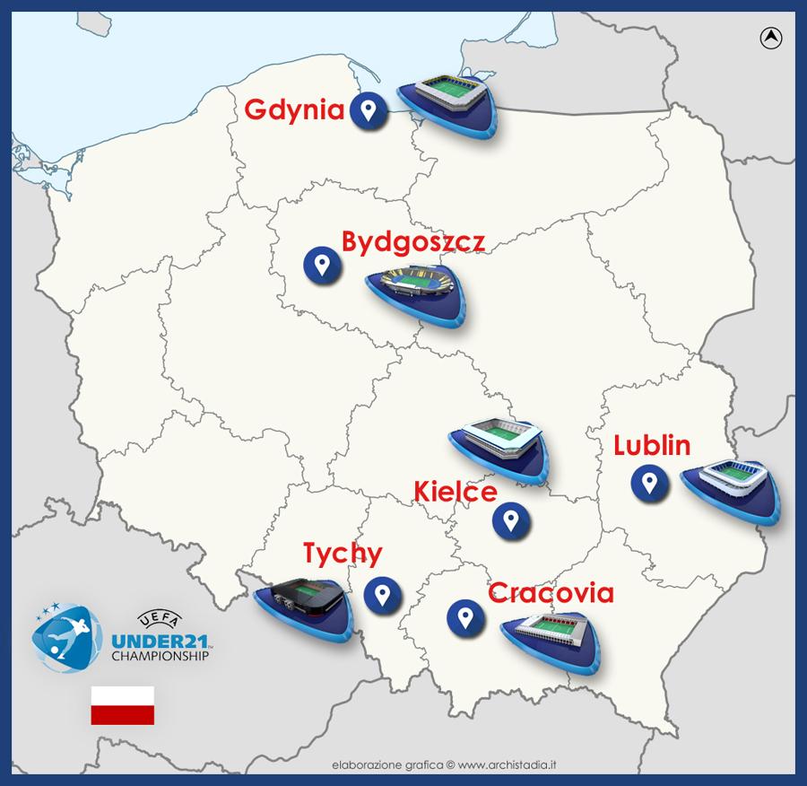 guida stadi europeo under21 polonia 2017
