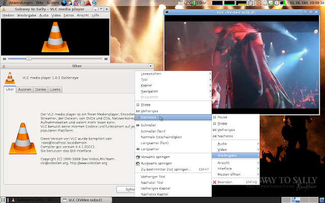 VLC media player software report