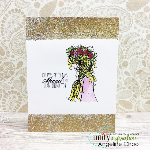 ScrappyScrappy: Block Embossing with Unity Stamp #scrappyscrappy #unitystampco #stamp #stamping #card #cardmaking #emboss #gold #glitter #copic #youtube #video