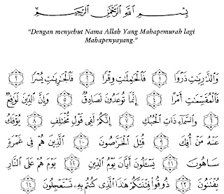 Bacaan Surat Adz-Dzariyat Lengkap Arab, Latin dan Artinya
