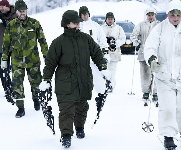 Crown Princess Victoria visited The Norrbotten Regiment in Arvidsjaur.