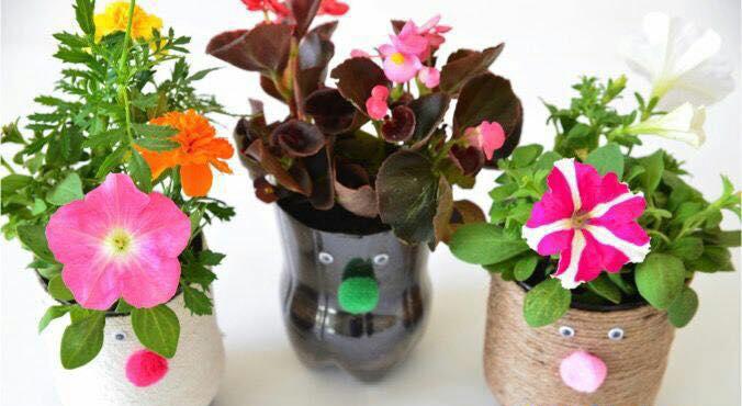 Macetas Hermosas Para Ninos Recicladas Con Envases Plasticos