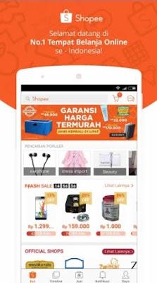 aplikasi jual beli online terpercaya di android shopee
