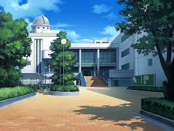 Anime Landscape: School Anime Background