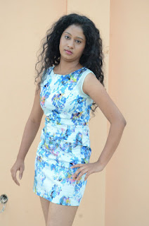 Actress Priyankha Stills in Floral Short Dress at Golmal Gullu Movie Pressmeet 0214.JPG