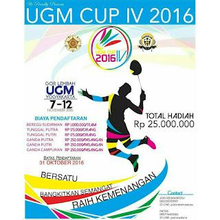 Turnamen Bulutangkis Antar Universitas Tingkat Nasional 2016 di UGM