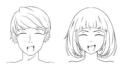 Personnage heureux avec la bouche ouverte
