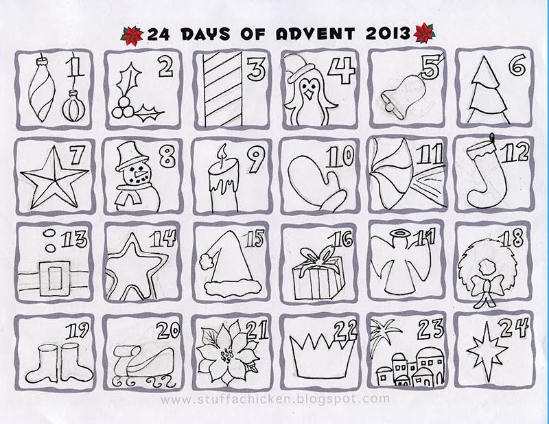 Gonna Stuff a Chicken: Quick Art Advent Calendar