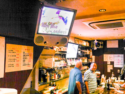 Inside Hotei, a gay bar in Osaka for guys in their 40s and up.