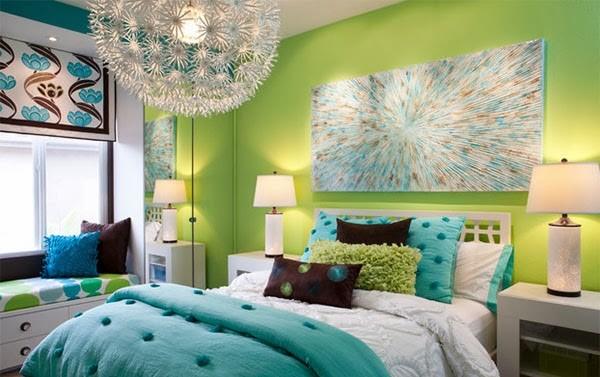 warna cat kamar tidur hijau toska 5
