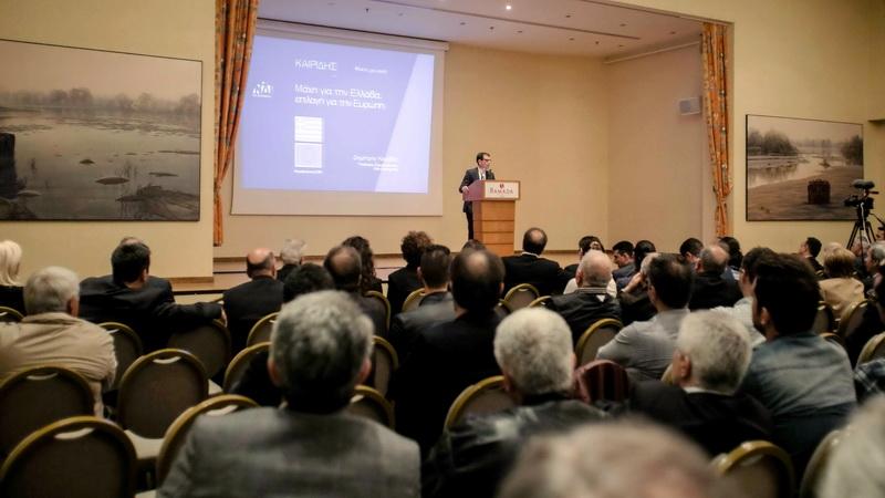 Με μεγάλη συμμετοχή η ομιλία του υποψήφιου ευρωβουλευτή της ΝΔ Δημήτρη Καιρίδη στην Αλεξανδρούπολη