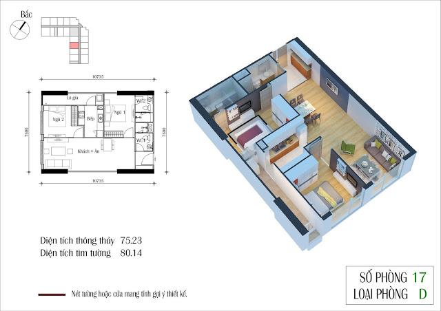 Thiết kế căn 17 tòa CT2 Eco Green City