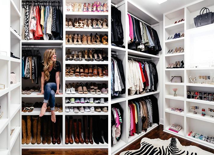 blogger closet reveal